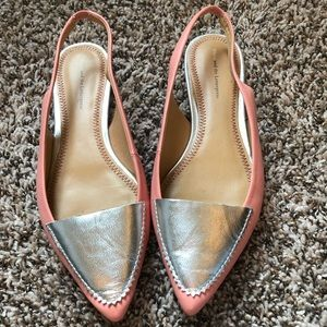 Anthropologie Pink Pointed Flats, Sz 8